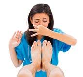 Вонючие мужские ноги Стоковое Изображение