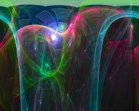 Воображение абстрактного цифрового влияния фрактали живое, элегантность, динамика иллюстрация штока