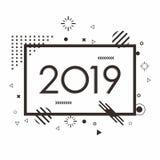 Воодушевленность дизайна Мемфиса 2019 вектора иллюстрация штока