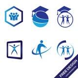 Воодушевленность идеи проекта логотипа образования иллюстрация штока