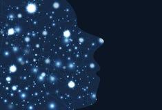 Воодушевленность шторма электрического мозга творческая, networ мозга думая бесплатная иллюстрация