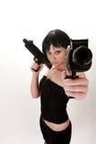 вооруженная девушка стоковое фото rf