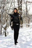 Вооруженная шикарная молодая дама Стоковое Изображение RF