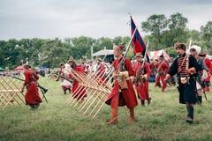 вооруженные войска русского пехоты Стоковые Изображения RF