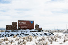 Вооруженный тупик ополчения - охраняемая природная территория Malheur Стоковое Изображение RF