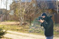 вооруженный человек стоковое фото rf