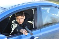 вооруженный человек стоковое изображение rf