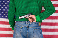 Вооруженный человек патриота Стоковые Фото