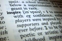 Воодушевите словарное определение Стоковое фото RF