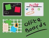 Воодушевленность и доски для сообщений офиса Стоковое фото RF