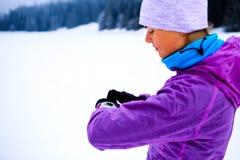 Воодушевленность фитнеса женщины и мотивировка, бегун Стоковая Фотография RF