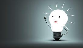 Воодушевленный характер электрической лампочки Стоковые Фотографии RF