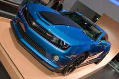 Экстренный выпуск колес Chevrolet Camaro горячий - выставка мотора 2013 Женевы Стоковые Изображения RF