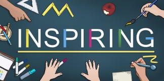 Воодушевлять воодушевляет воодушевленность мотирует концепцию творческих способностей иллюстрация штока