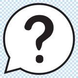 Вопросительный знак в пузыре речи вопрос о метки иконы 3d представляет Стоковая Фотография RF