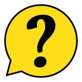 Вопросительный знак в пузыре речи вопрос о метки иконы 3d представляет Стоковые Изображения