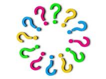 вопросительные знаки 3d Стоковые Изображения
