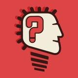 Вопросительный знак в голове Стоковая Фотография RF