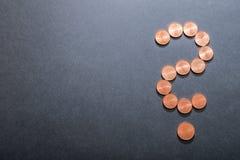 Вопросительный знак евро Стоковая Фотография