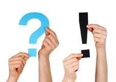 Вопросительный знак и метка расспрашивания Стоковые Фотографии RF