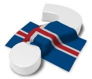 Вопросительный знак и флаг Исландии Стоковое фото RF