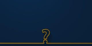 Вопросительный знак на голубой предпосылке Стоковые Изображения RF