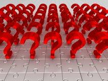 Вопросы. головоломка Стоковые Фото