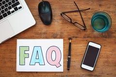 вопросы и ответы Стоковое Фото