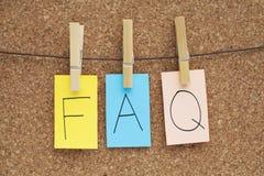 вопросы и ответы Стоковые Фото