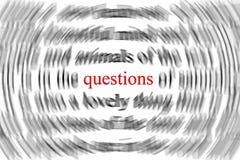 вопросы Стоковая Фотография RF