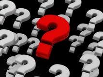 вопросы Стоковое Изображение