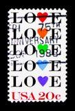 Вопрос влюбленности, около 1984 Стоковое фото RF