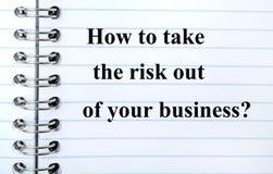 Вопрос как принять риск из вашего дела Стоковая Фотография