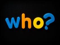 вопрос который Стоковая Фотография RF