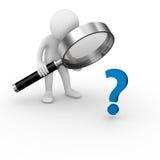 вопрос о анализа Стоковые Изображения RF