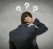 Вопрос о бизнесмена Стоковые Изображения RF