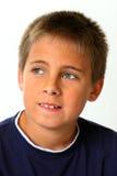 вопрос о выражения мальчика стоковые фото