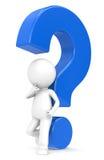 вопрос о голубой метки Стоковые Фотографии RF