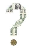 вопрос о доллара Стоковое Фото