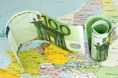 вопрос о евро Стоковое Изображение