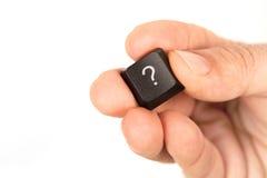 вопрос о кнопки Стоковое Фото