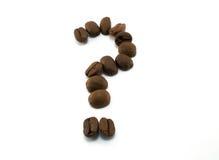 вопрос о кофе Стоковые Фото