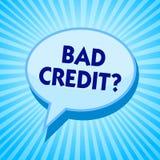 Вопрос о кредита текста сочинительства слова плохой Концепция дела для истории когда она покажет что заемщик имеет рискованное го иллюстрация штока