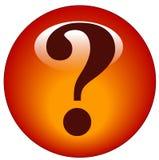 вопрос о метки иконы Стоковая Фотография RF