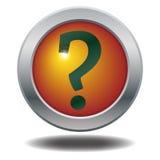 вопрос о метки иконы 3d представляет Стоковые Фотографии RF