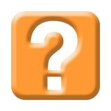 вопрос о метки кнопки Стоковое Изображение