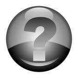 вопрос о метки кнопки Стоковое Фото