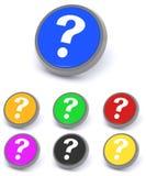 вопрос о метки кнопок Стоковая Фотография RF