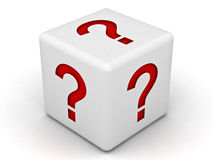 вопрос о метки коробки Стоковое Фото