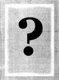 вопрос о метки grunge Стоковое фото RF